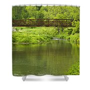 Whitewater River Spring 7 Bridge Shower Curtain