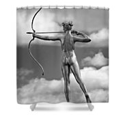Who Needs Cupid 2 Monochrome Shower Curtain