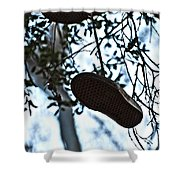 Who's Shoes Shower Curtain