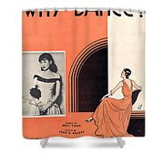 Why Dance Shower Curtain