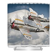Wicked Wabbit And Hun Hunter Shower Curtain