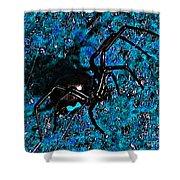 Wicked Widow - Blue Shower Curtain
