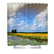 Wide Country Shower Curtain