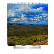 Wide Open Wyoming Sky Shower Curtain