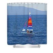 Wide Sail Shower Curtain