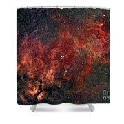 Widefield View Of He Crescent Nebula Shower Curtain