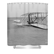 Wilbur Wright Crash Landing In Wright Shower Curtain