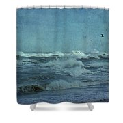 Wild Blue - High Surf - Outer Banks Shower Curtain