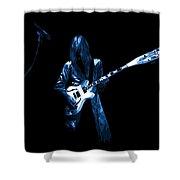 Wild Blue Guitar Shower Curtain