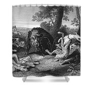 Wild Boar Hunt Shower Curtain