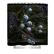 Wild Grapes Abstracted Shower Curtain