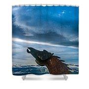 Wild Horse Sculpture Shower Curtain