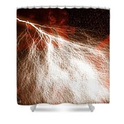 Wild Lightning  Shower Curtain