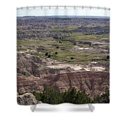 Wild Mountain Goat On Top Of The Badlands Shower Curtain