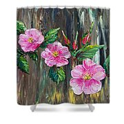 Wild Roses 09 Shower Curtain