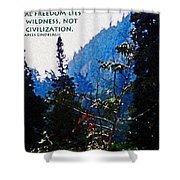 Wilderness Freedom Shower Curtain