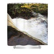 Wilderness Waterfall Autumn Stream Shower Curtain