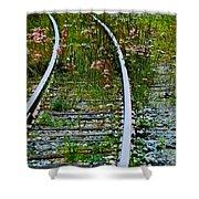 Wildflower Railroad Shower Curtain