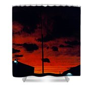 Wildwood Sunset Shower Curtain
