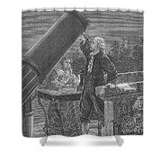 William And Caroline Herschel, German Shower Curtain