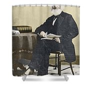 William Cullen Bryant, American Poet Shower Curtain by Science Source