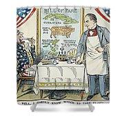 William Mckinley Cartoon Shower Curtain