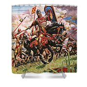 William The Conqueror At The Battle Of Hastings Shower Curtain