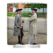 Williamsburg Colonists Shower Curtain