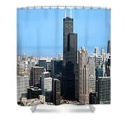 Willis Sears Tower 01 Chicago Shower Curtain