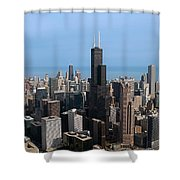 Willis Sears Tower 03 Chicago Shower Curtain