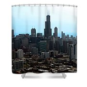 Willis Sears Tower 04 Chicago Shower Curtain