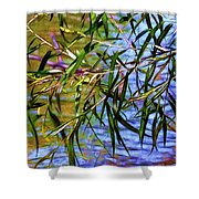 Willows At The Pond Shower Curtain