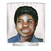Wilma Rudolph Shower Curtain
