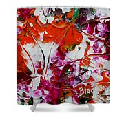 Wilted Flowers Shower Curtain