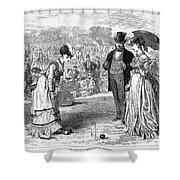 Wimbledon: Croquet, 1870 Shower Curtain by Granger