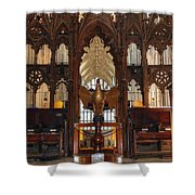 Winchester Cathedral Quire Shower Curtain