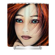 Wind And Fire Shower Curtain