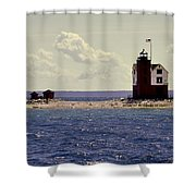 Wind At The Light  Shower Curtain