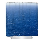 Wind Creates White-capped Waves Shower Curtain