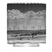 Wind Farm II Shower Curtain