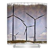 Wind Farm IIi - Impressions Shower Curtain