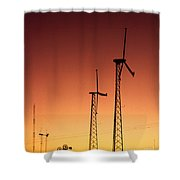 Wind Power For Agriculture Shower Curtain