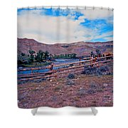 Wind River And Horses Shower Curtain
