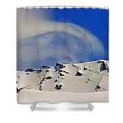 Wind Skier Shower Curtain