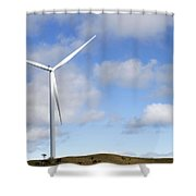 Wind Turbine  Shower Curtain