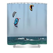 Wind Worshippers Shower Curtain