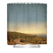 Winding Road To The Sea Shower Curtain
