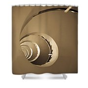 Winding Staircase, Katakolon, Greece Shower Curtain