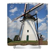 Windmill And Blue Sky Shower Curtain
