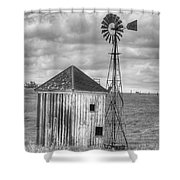 Windmill And Shack Shower Curtain